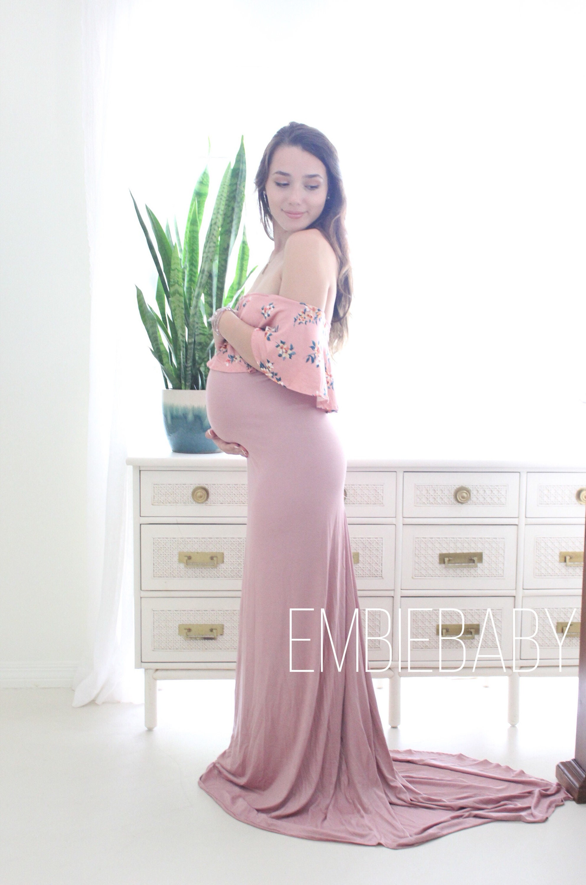 Maternity gown for baby shower maternity gown photo shoot | Etsy