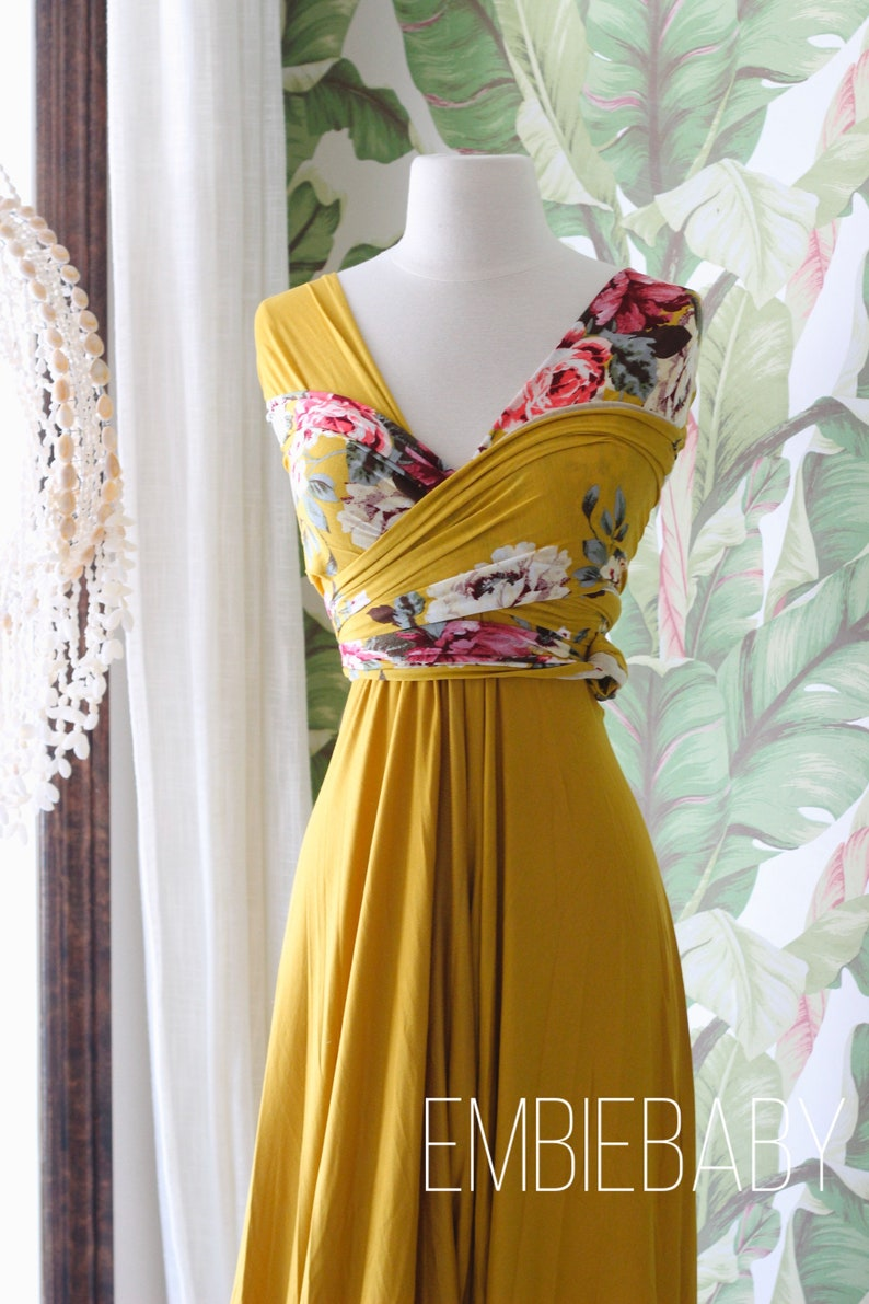 full wrap dress Maternity dress for photo shoot dress baby shower dress bridesmaid dress  maternity gown