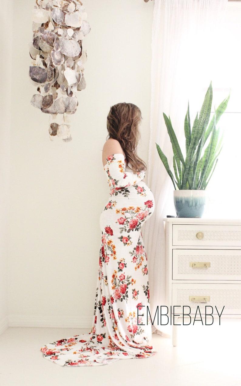 9a1856d293b Long Sleeve Maternity Dress With Train - Gomes Weine AG