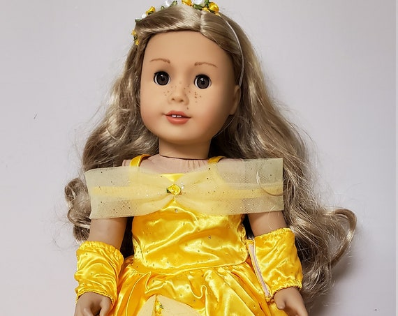 Yellow Belle Gown with Shoes for the American Girl doll