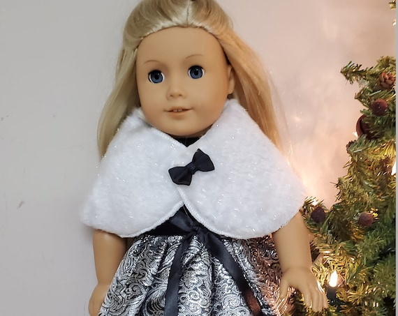 American Girl black and silver party Dress