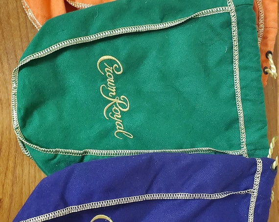 Crown Royal Bag- different sizes and color