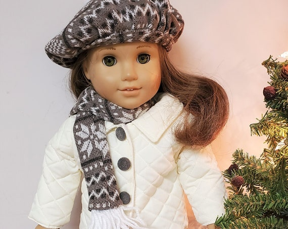 Brown & Cream Fall Outfit for the American Girl Doll 5 pieces.