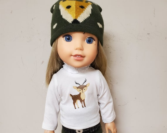 Wellie Wisher Deer outfit. 5 piece outfit that will fit a 14.5 size doll like the Wellie Wisher