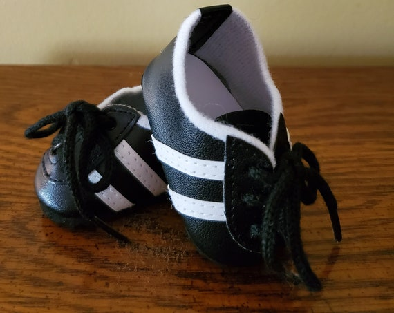 Black with white sport shoes for the American Girl Doll