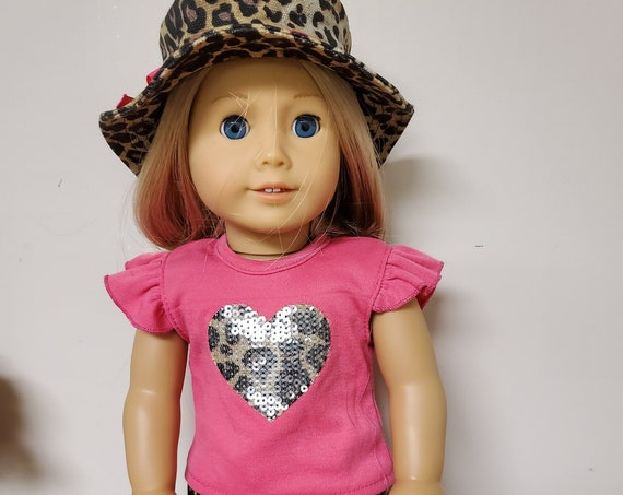 18 inch size Leopard 4 Piece outfit for the American Girl