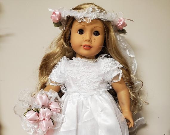 American Girl White Wedding Gown