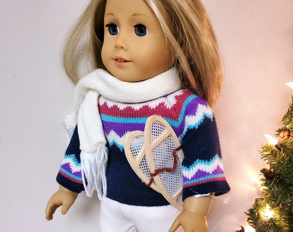 Winter Snowshoe and Sweater outfit for the American Girl Doll