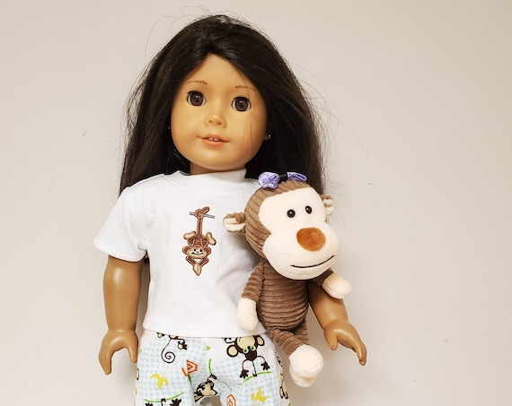Monkey PJ set for the American Girl Doll