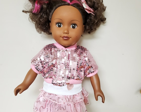 American Girl doll 5 piece glitter outfit.