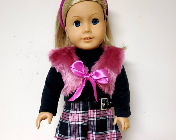American Girl pink and Black winter 6 piece Outfit