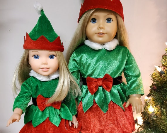 Christmas outfits for the American Girl or Wellie Wisher Doll