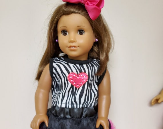 Zebra Dance outfit for the American Girl