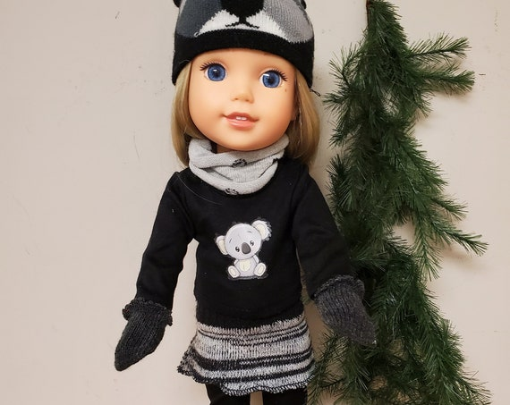 Koala 7 outfit that will fit a 14.5 size doll like the Wellie Wisher