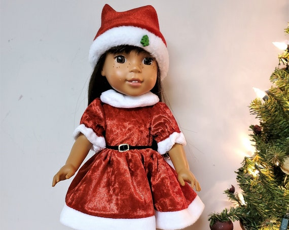Santa Christmas Dress for the Wellie Wisher doll