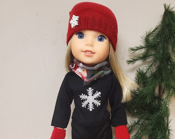 Wellie Wisher Holiday 6 Piece Outfit that will fit a 14.5 size doll