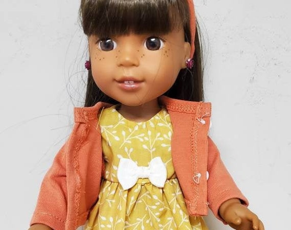Wellie Wisher Outfit 4 pieces  Dress, Jacket, Sandals and a matching Headband
