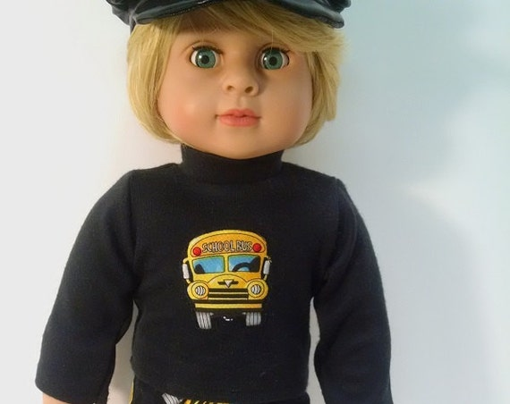 18 inch Boy doll clothes. Back to school. Pants, Shirt and Hat