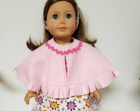 "Spring Dress with poncho  for any 18"" doll like the American Girl 5pieces"