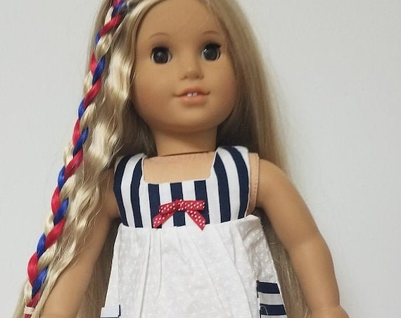 American Girl 4th of July Dress