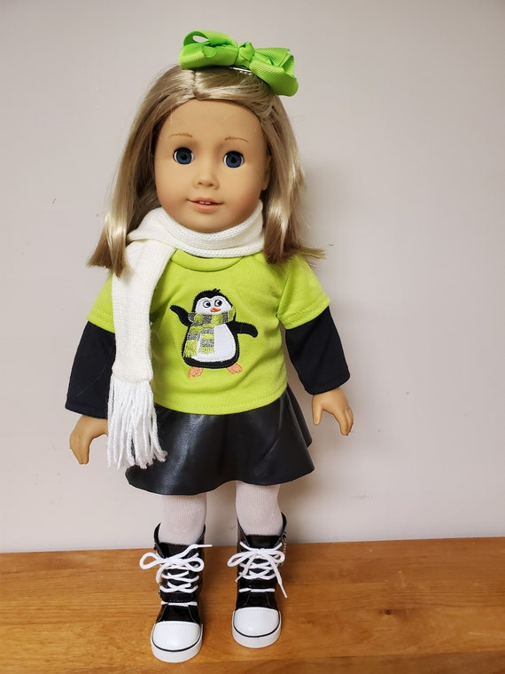 Penguin 6 Piece Outfit for the American Girl Doll