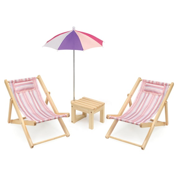 Beach Lounge Chairs for the American Girl doll or any 18in doll