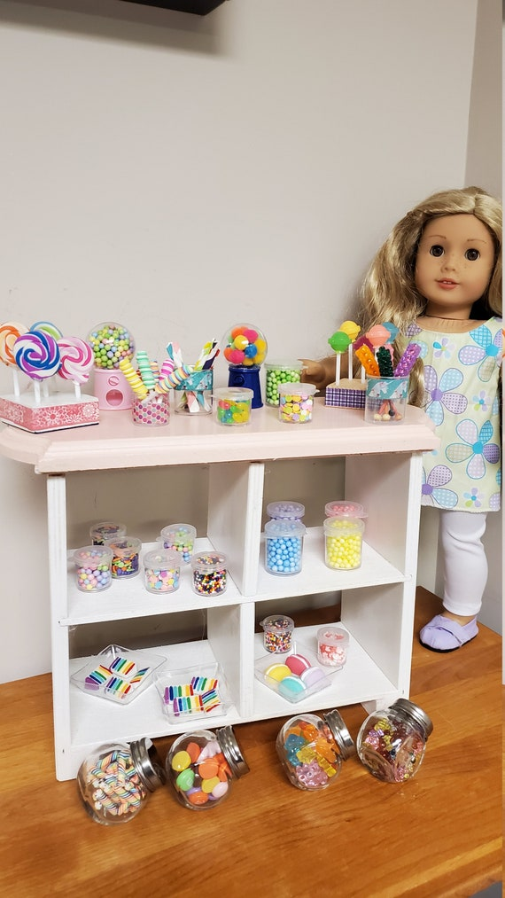 American girl doll play food and candies. Mini Candy