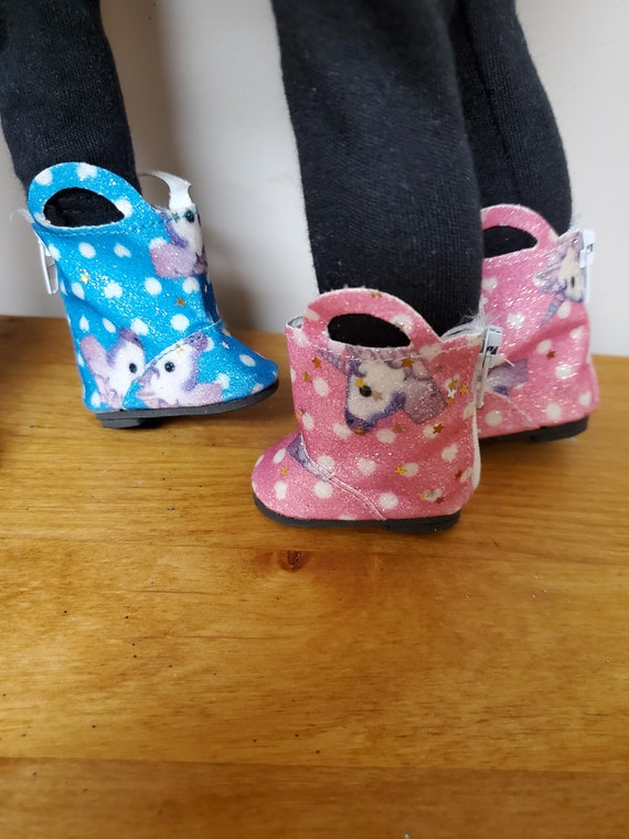 Unicorn Boots for the Wellie Wisher Doll