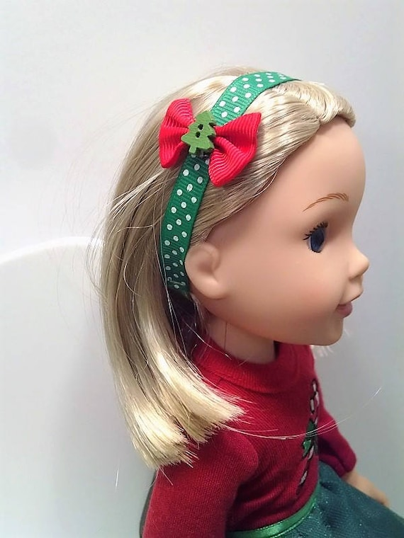 Christmas Headbands for a 14.5 inch doll like the Wellie Wisher
