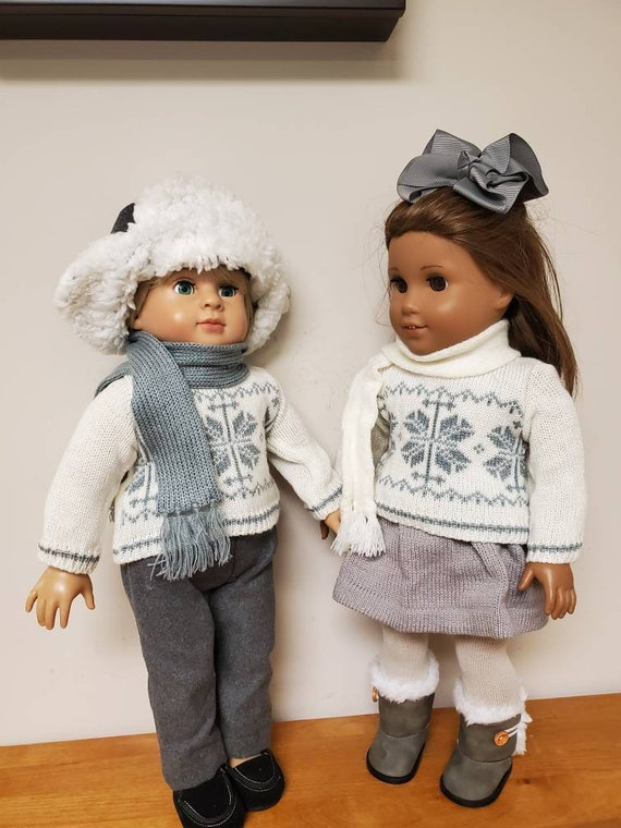 Matching American Girl & Boy winter Sweater outfits