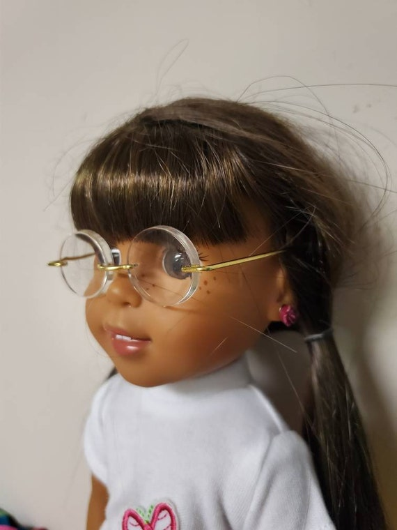 2 pair Doll Wire rim glasses for any doll like the American Girl or Wellie Wisher dolls