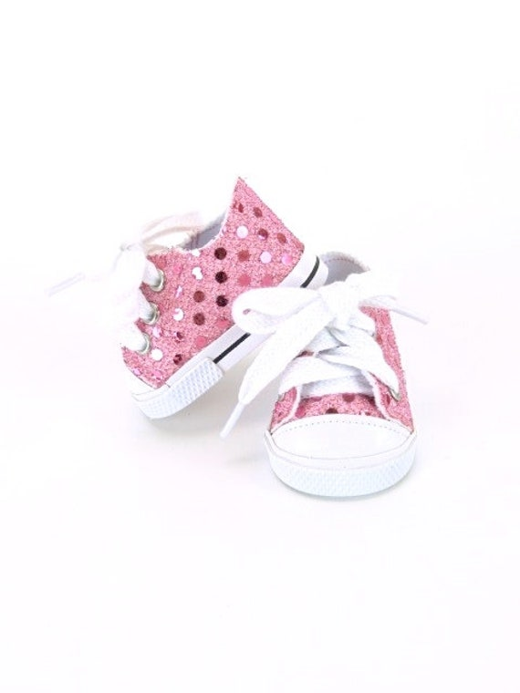 Sequin Sneakers for the American Girl or Bitty Baby Doll