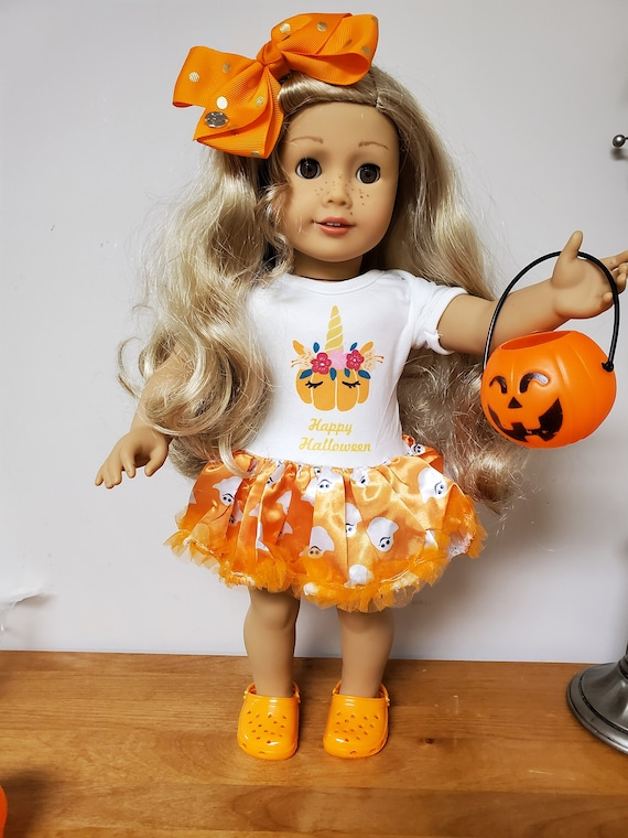 Halloween/Unicorn outfit for the American Girl doll or Bitty Baby.