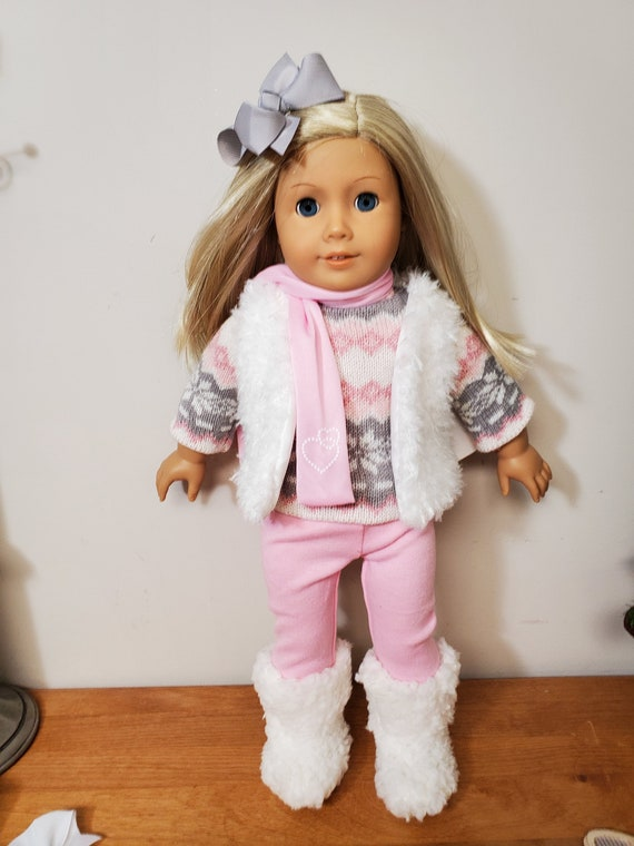 Pink winter outfit for the American Girl Doll 5 Pieces