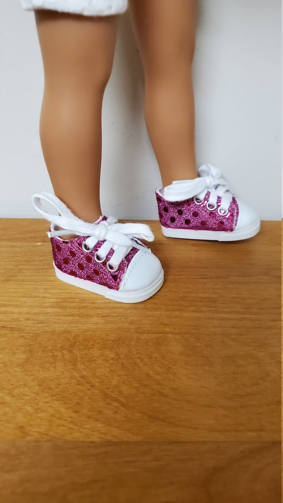 Wellie Wisher 14.5 inch Doll Sequin Fashion Cute Sneakers