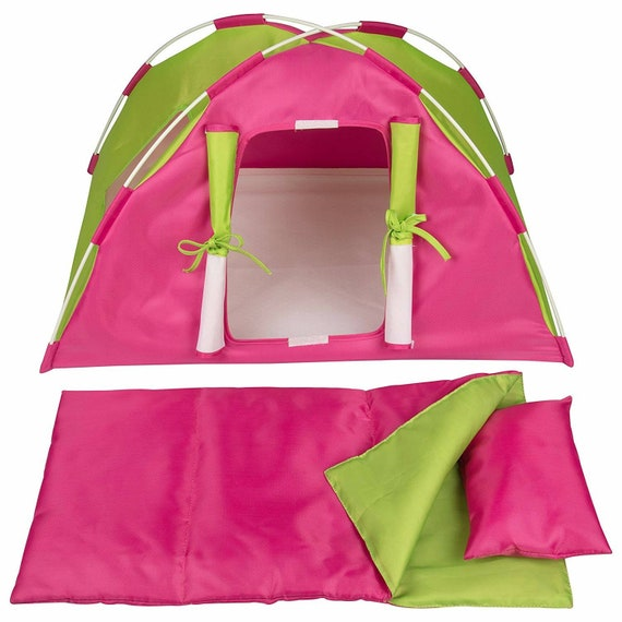 Tent and sleeping bag for the American Girl doll or any 18in doll