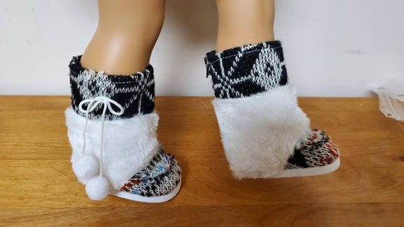 American Girl Knit Pom-pom Boots for the American Girl Doll