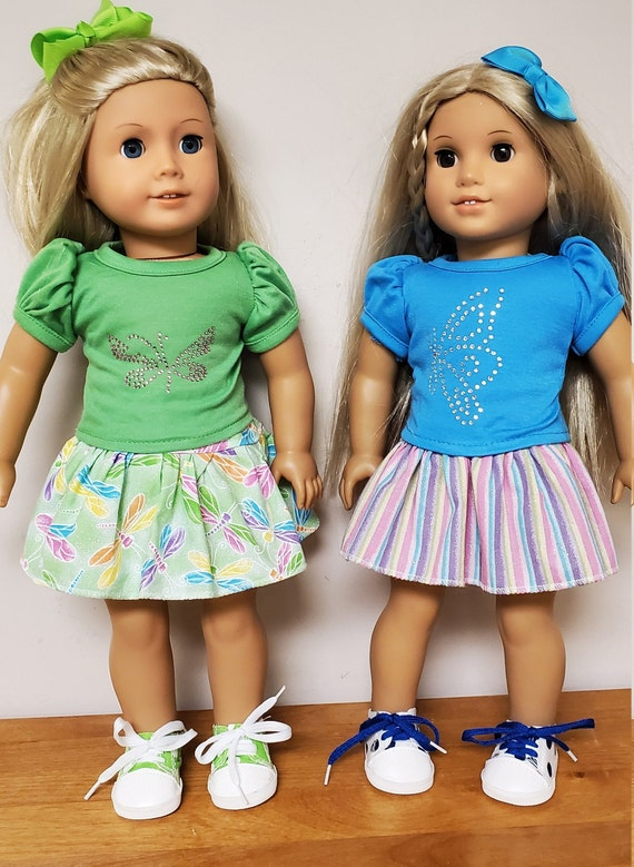 """Skirt and Blouse Set for your 18"""" American Girl doll"""