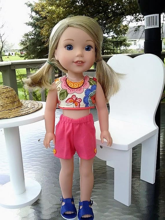 Two piece outfit that will fit a 14.5 size doll like the Wellie Wisher