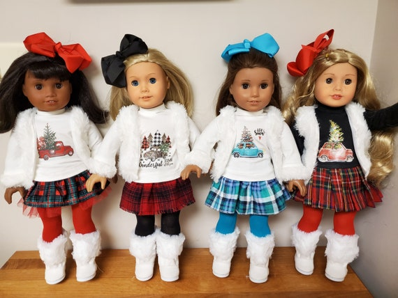 Winter Outfit for the American Girl Doll 6 Pieces 4 Style
