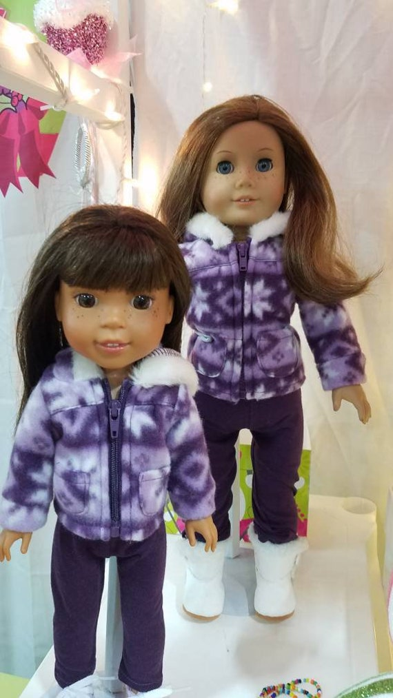 "Matching Purple Snow flake outfit for any 18"" dolly or Wellie Wisher"