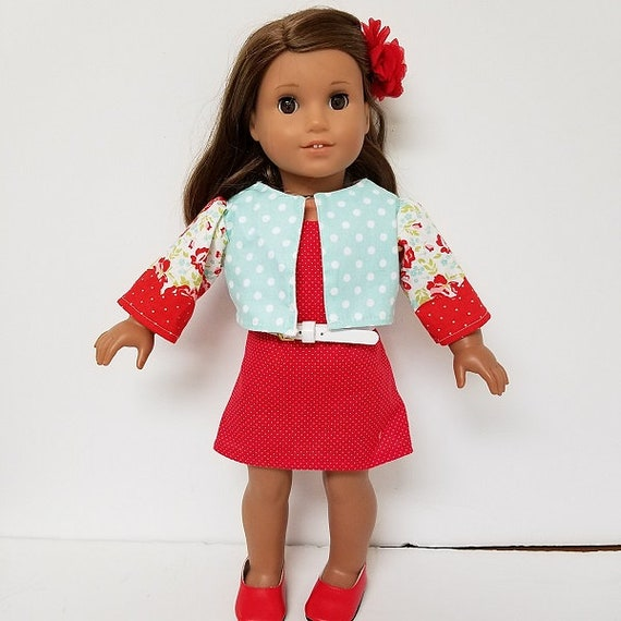 American Girl 4 Piece dress outfit