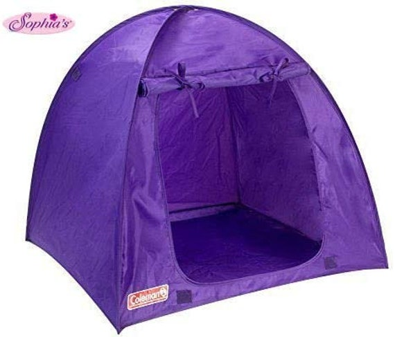 Coleman Purple Tent for any Dolls like the American Girl Doll