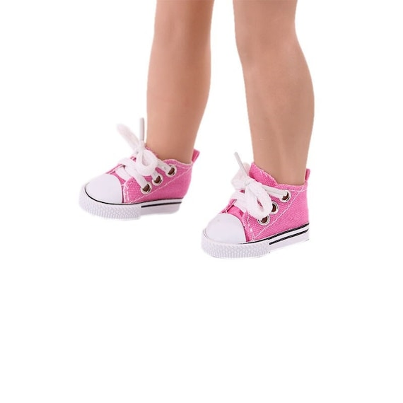 Hi Top Tennis Shoes for a 14.5 inch doll like the Wellie Wisher, Hearts 4 Hearts doll