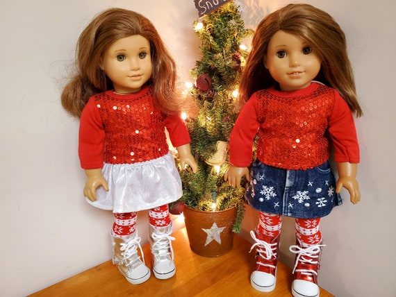 4 piece Holiday outfit  for 18 Inch dolls such as American Girl®