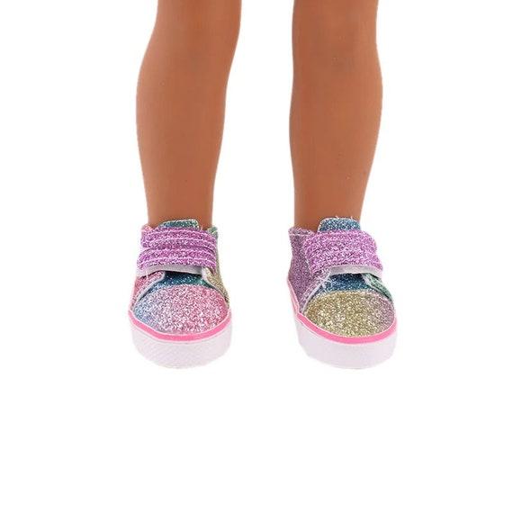 Wellie Wisher 14.5 inch doll Rainbow Sequin sneaker