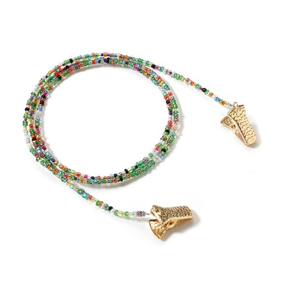 Mask Necklace, Neck Chain for Face Mask, Beaded glasses chain, Sunglass Strap Chain, Colorful Beads, Use for your Mask or Eyewear,