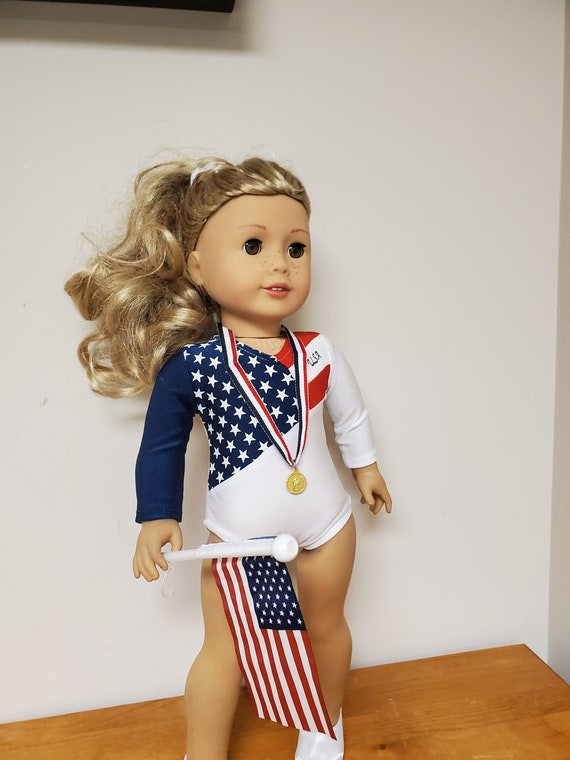 Olympic Gymnastic Outfit Team USA for the American Girl Doll