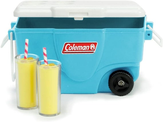 "Coleman 18"" Doll Aqua Cooler & Lemonade Set for Dolls like the American girl or Wellie Wisher"