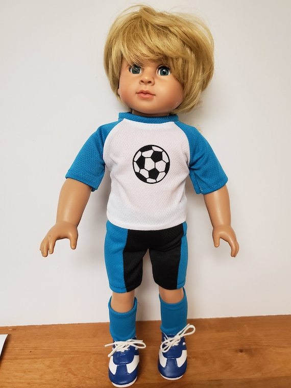 Soccer Outfit Boy Doll Clothes for the American Boy Doll  18 inch